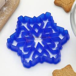 Формочка для печенья Снежинка 9,5 см. пластик Леденцовая фабрика 1