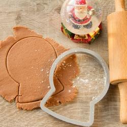 Формочка для печенья Снежный шар 11х8,5 см. Любимова 1