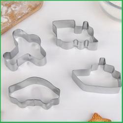 Формочка для печенья Транспорт 4 шт. металл 1