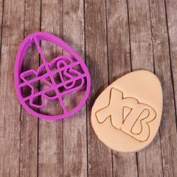 Формочка для печенья Яйцо ХВ с оттиском 11 см. 1