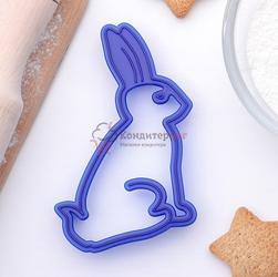 Формочка для печенья Зайчик 7х11 см. пластик Леденцовая фабрика 1