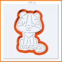 Формочка для пряников Тигр 6,5х9,5 см. + трафарет Любимова 1