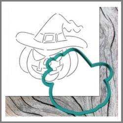 Формочка для пряников Тыква в шляпе 10,5х10,5 см. + трафарет Любимова 1