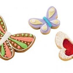 Формочка для печенья Бабочка 4 размера двухсторонняя пластик Tescoma 2