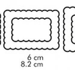 Формочка для печенья 2-стор. Печенье 3 шт. пластик 5