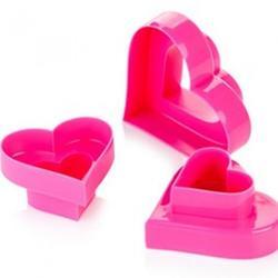Формочка для печенья 2-стор. Сердце 3 шт. пластик 1