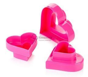 Формочка для печенья Сердце 6 размеров пластик Tescoma 1