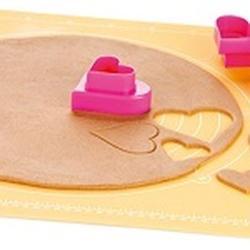 Формочка для печенья 2-стор. Сердце 3 шт. пластик 3