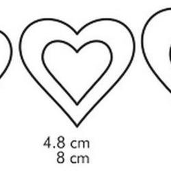 Формочка для печенья 2-стор. Сердце 3 шт. пластик 4
