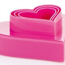 Формочка для печенья 2-стор. Сердце 3 шт. пластик 2