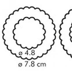 Формочка для печенья 2-стор. Цветы 3 шт. пластик 3