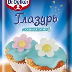 Глазурь кондитерская Голубая 100 г. Dr. Oetker 1