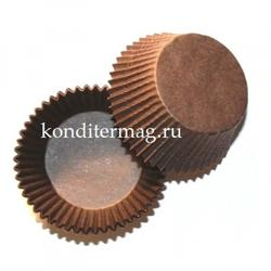 Форма для кексов бумажная 50х30 мм. 50 шт. коричневая 1