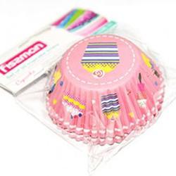 Форма для кексов бумажная 5х3 см. 50 шт. Пирожное Fissman 1