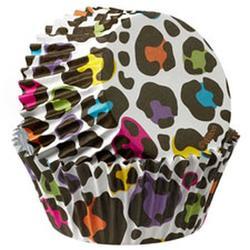 Форма для кексов бумажная 5х3 см. 36 шт. Леопард фольга Вилтон 1
