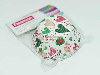 Форма для кексов бумажная 5х3,2 см. 50 шт. Любовь Fissman 1