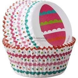 Форма для кексов бумажная круглая Пасхальные яйца 5 см. 50 шт. Вилтон 2