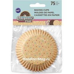 Форма для кексов бумажная круглая Пончики 5 см. 75 шт. Вилтон 2