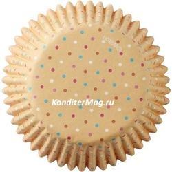 Форма для кексов бумажная круглая Пончики 5 см. 75 шт. Вилтон 5