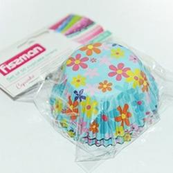 Форма для кексов бумажная 5х3,2 см. 50 шт. Цветы Fissman 1