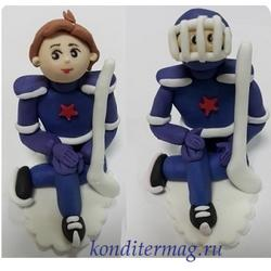 Фигурка сахарная Хоккеист 1 шт. 1