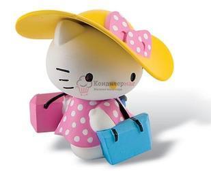 Вафельная картинка Китти в шляпке 1