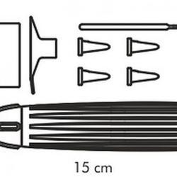 Карандаш кондитерский  5 насадок пластик Tescoma 5