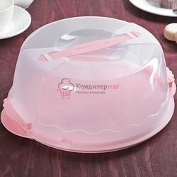 Контейнер для торта 26х8,5 см. Нежность 1