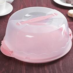 Контейнер для торта 26х8,5 см. круг Нежность 1