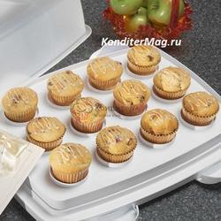 Контейнер для торта и кексов 45х36х17 см. 3 в 1 Вилтон 3