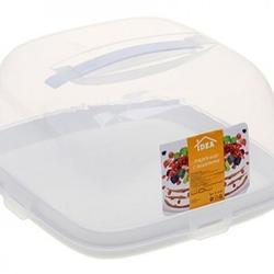 Контейнер для торта 24х24х12 см. Квадрат белый 1