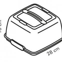 Контейнер переносной для торта 28х28 см Tescoma 3