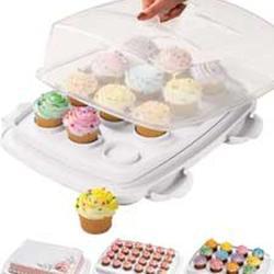 Контейнер для торта и кексов 45х36х17 см. 3 в 1 Вилтон 1