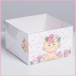 Коробка 4 ячейки 16х16х10 см. Милашка прозр. крышка 2