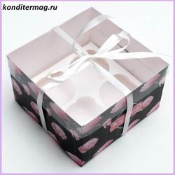 Коробка 4 ячейки 16х16х10 см. Ты прекрасна прозр. крышка 1
