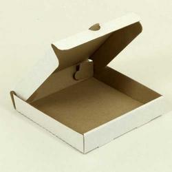 Коробка для пиццы 16х16х3 см. белая 1