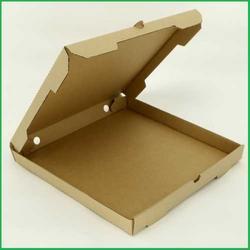 Коробка для пиццы 31х31х4 см. Бурая 1