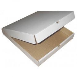 Коробка для пиццы 36х36х4 см. бел/бур 1