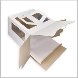 Коробка для торта 30х30х20 см. Бел/окно 1