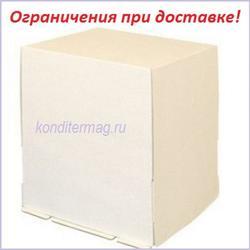 Коробка для торта 30х30х35 см. Белая 1
