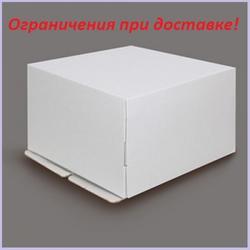 Коробка для торта 40х40х20 см. Белая 1