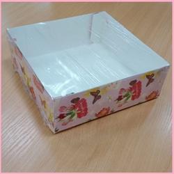 Коробка для зефира 20х20х7 см. С праздником пласт/кр. 1