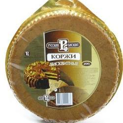 Коржи Русский бисквит темные 400 г. 1