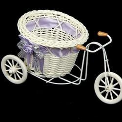 Корзина декоративная Велосипед с корзинкой 1