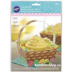Упаковка для 1 капкейка Пасхальная Корзинка 4 шт. 1