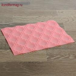 Коврик для объемного рисунка Матлассе 25х19 см. розовый силикон 2