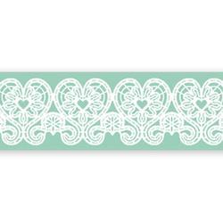 Коврик для кружев Сердечки 39х8,5 см. силикон 1