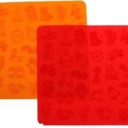 Коврик текстурный для мастики 25х25 см. Для мальчиков силикон 1