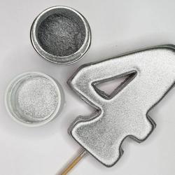 Краситель сухой блестящий плотный Серебро 10 г. 1