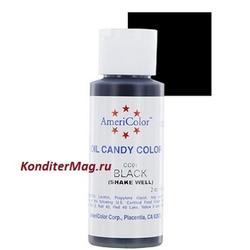 Краситель для шоколада Americolor Черный Black 56 г. 1